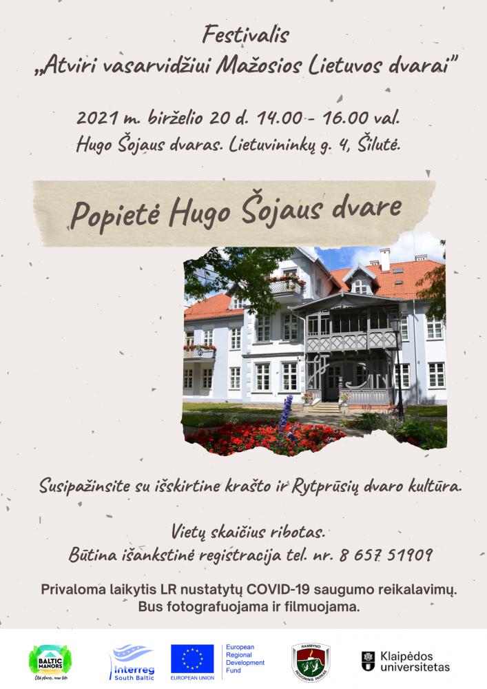 """Festivalis """"Atviri vasarvidžiui Mažosios Lietuvos dvarai"""" Hugo Šojaus dvare"""